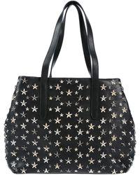 Jimmy Choo Shopping Bag With Stars Sofia M - Black