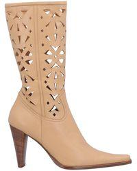 Lena Milos Knee Boots - Natural