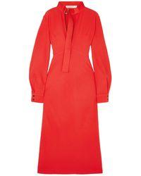 Victoria Beckham 3/4 Length Dress - Red