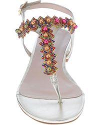 Tosca Blu Toe Strap Sandal - Multicolour