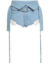 Marques'Almeida Denim Shorts - Blue