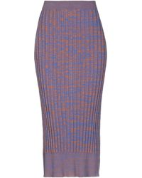 Jil Sander Navy 3/4 Length Skirt - Blue