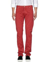 Isaia Pantalones vaqueros - Rojo