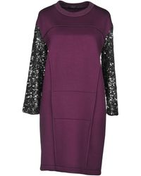 Trussardi Short Dress - Purple