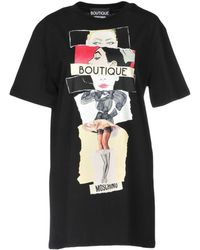 Boutique Moschino - Printed Cotton-jersey T-shirt - Lyst