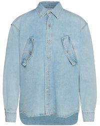 Marcelo Burlon Denim Shirt - Blue