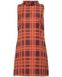 Niu Short Dress - Orange