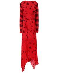 Preen Line Robe longue - Rouge