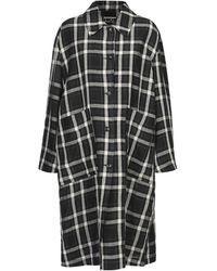 Hache Overcoat - Black