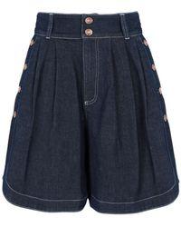 See By Chloé Denim Shorts - Blue