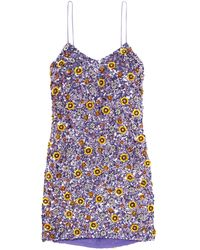 Ashish Short Dress - Purple