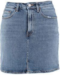 Jeanerica Jupe en jean - Bleu