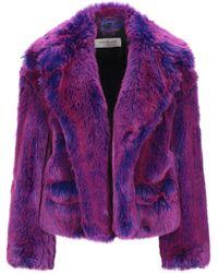 Dries Van Noten Faux Fur - Purple
