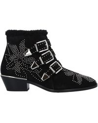 Chloé Cross-over buckle boots - Negro