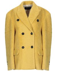 Rochas Coat - Yellow