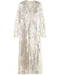 Temperley London Overcoat - White