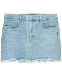 J Brand Jupe en jean - Bleu