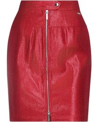 Armani Exchange Midi Skirt - Red