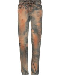 B-Used Denim Trousers - Blue