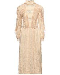 Soallure 3/4 Length Dress - Natural