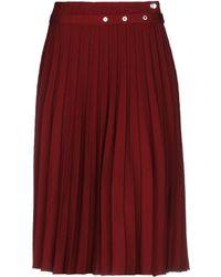 Mrz 3/4 Length Skirt - Red