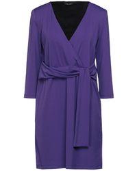 Hanita Short Dress - Purple