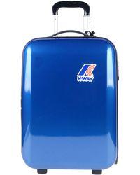 K-Way Wheeled luggage - Blue