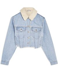 TOPSHOP - Capospalla jeans - Lyst