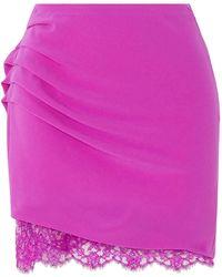 Fleur du Mal Mini Skirt - Purple