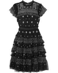 Needle & Thread Short Dress - Black
