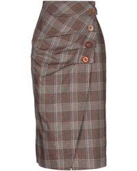 Maliparmi 3/4 Length Skirt - Brown
