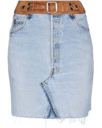 RE/DONE with LEVI'S Jupe en jean - Bleu