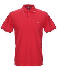 Sun 68 Polo Shirt - Red