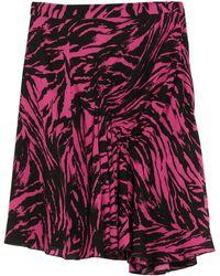 N°21 Knee Length Skirt - Purple