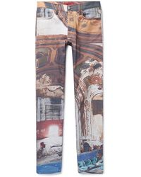 424 Denim Trousers - White