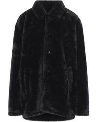 Obey Teddy Coat - Black