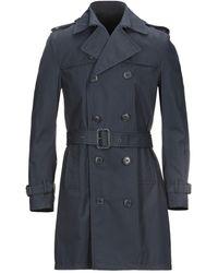 Brian Dales Overcoat - Blue