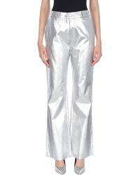 MM6 by Maison Martin Margiela Denim Trousers - Metallic