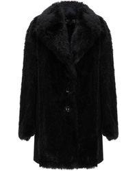 Patrizia Pepe Teddy Coat - Black