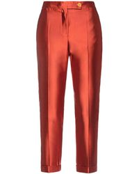 Altea Cropped Trousers - Red