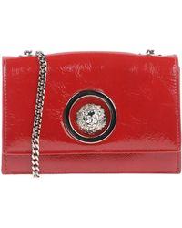 Versus Leather Shoulder Bag - Red