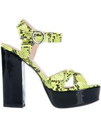 Divine Follie Sandals - Yellow