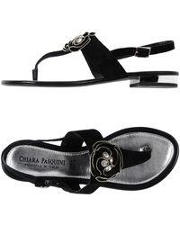 Chiara Pasquini Toe Post Sandal - Black