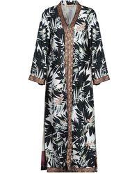 Black Coral Overcoat - White