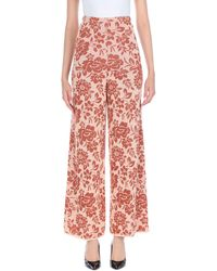 VIKI-AND Casual Trousers - Pink