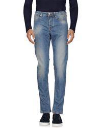 Jaggy Denim Trousers - Blue
