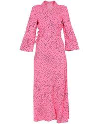 Ganni 3/4 Length Dress - Pink