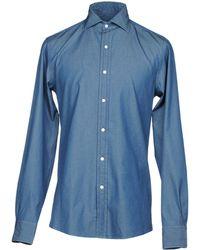 Ralph Lauren Purple Label Denim Shirt - Blue