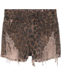 R13 Denim Shorts - Brown