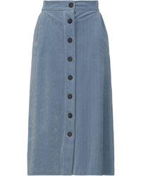 Harris Wharf London Midi Skirt - Blue